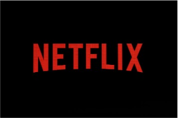 Logotipo de Netflix con fondo obscuro