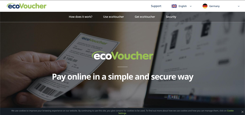 EcoPayz EcoVoucher Gift Card