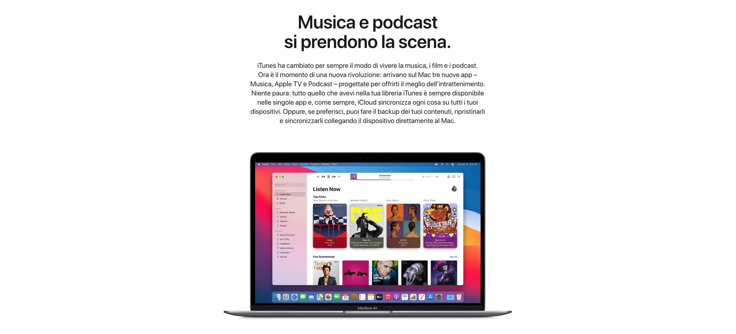 Acquista online una iTunes card