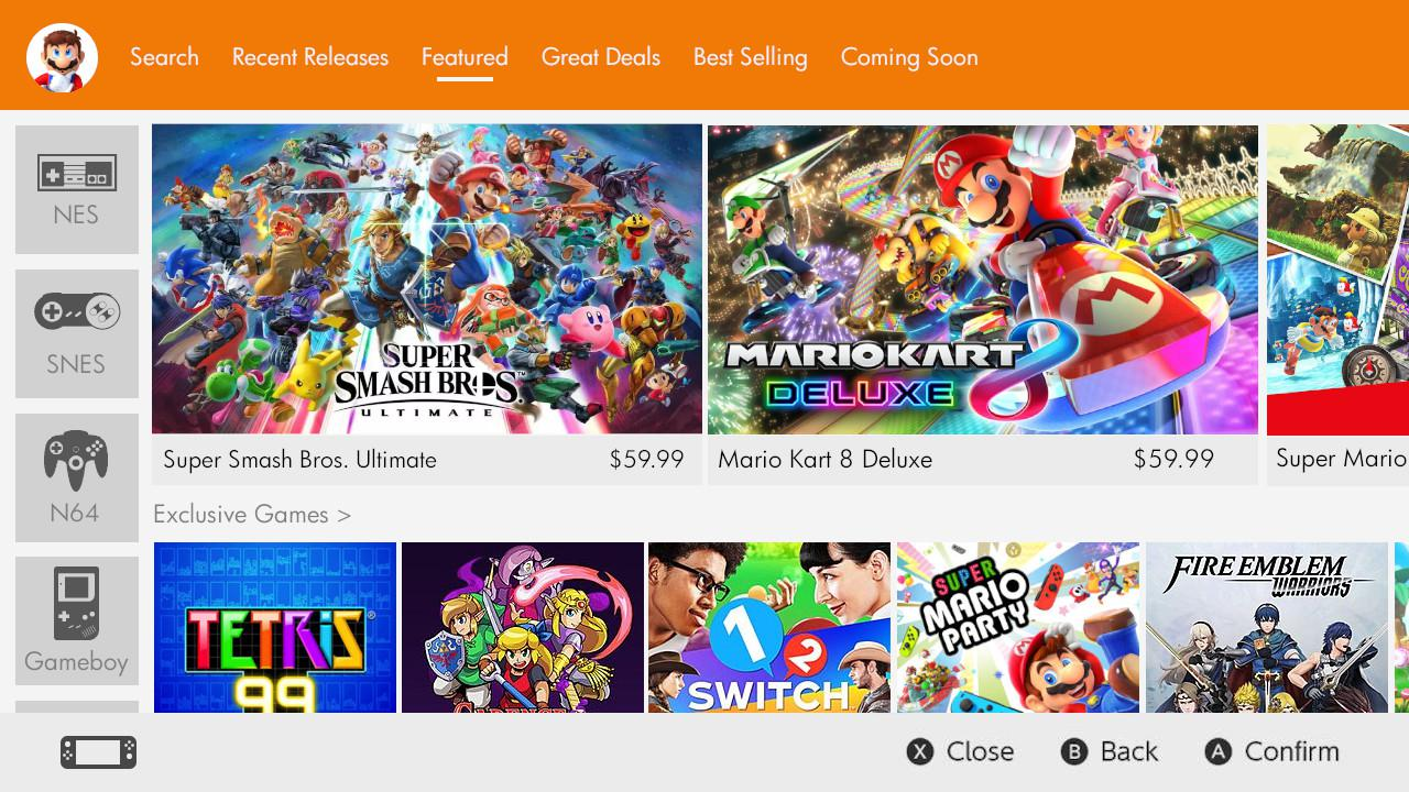 Nintendo eShop Card - große Auswahl an Spielen
