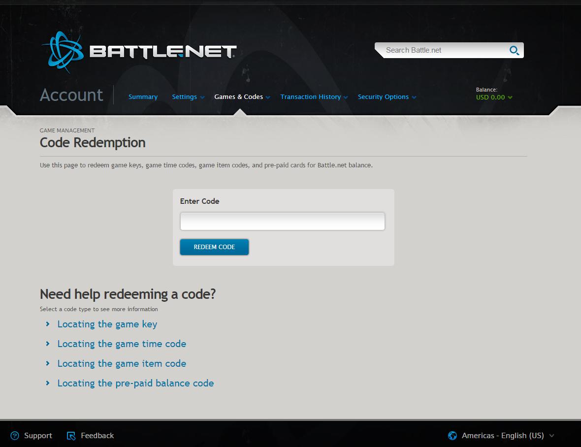 Comprar tarjetas Battle.net y usarlas de inmediato
