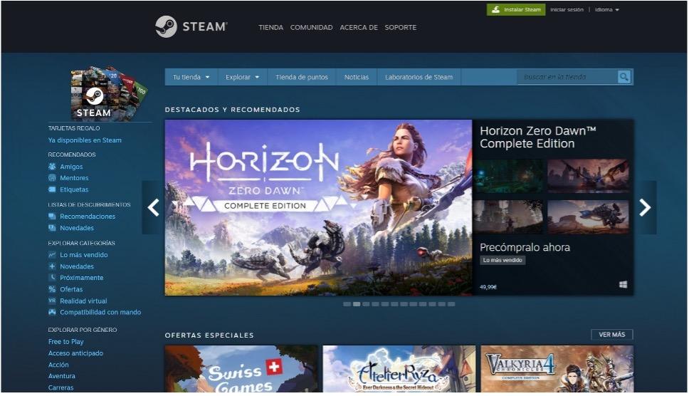 Interfaz de aplicación Steam