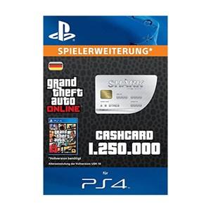 CashCard Der Weiße Hai 1.250.000 GTA Dollar PS4