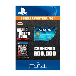 CashCard Tigerhai 200.000 GTA Dollar PS4