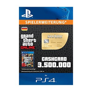CashCard Walhai 3.500.000 GTA Dollar PS4