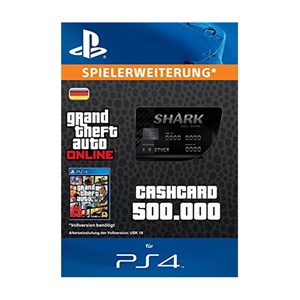 CashCard Bullenhai 500.000 GTA Dollar PS4