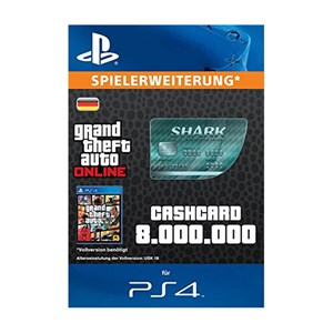 CashCard Megalodon 8.000.000 GTA Dollar PS4