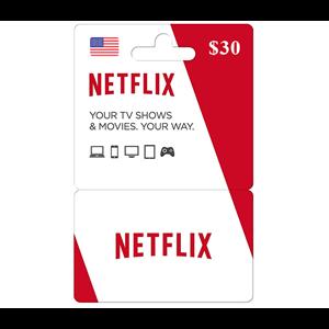 Netflix 30$ USD