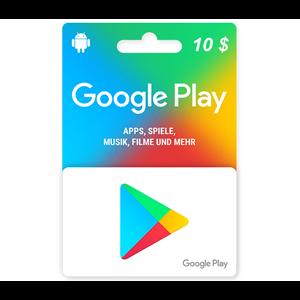 Google Play 10$ USD Dollar