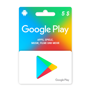 Google Play 5$ USD Dollar