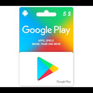 Google Play 5$ USD Dollar