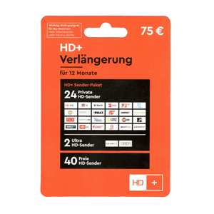 HD Plus 12 Monate 75€
