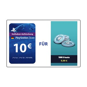 Fortnite 1.000 V-Bucks (PS4 DE) - 10€ PlayStation Guthaben