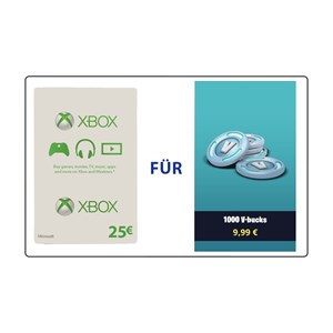 Fortnite 2.500 V-Bucks plus 300 Bonus (Xbox) - 25€ Xbox Live Guthaben