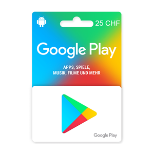 Google Play 25 CHF