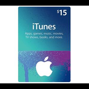Apple iTunes Store 15$ Dollar USD