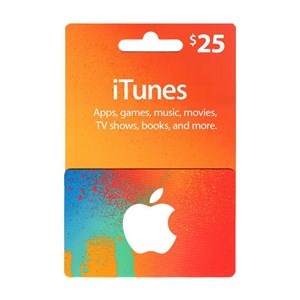 Apple iTunes Store 25$ Dollar USD