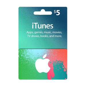 Apple iTunes Store 5$ Dollar USD