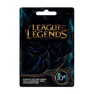League of Legends LoL Card 10€ Euro 1580 Riot Points