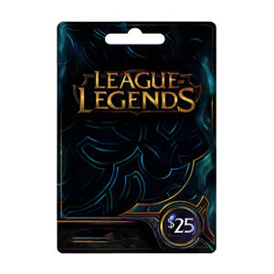 League of Legends LoL Card 25$ Dollar Riot Points