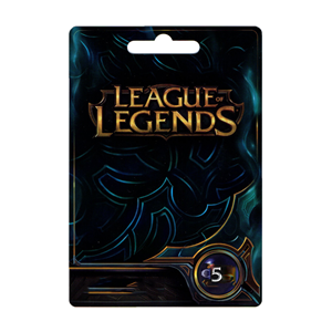 League of Legends LoL Card 5€ Euro 650 Riot Points