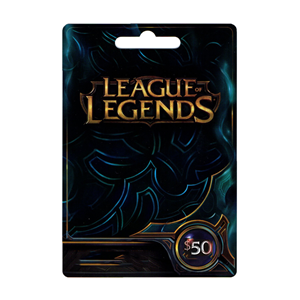 League of Legends LoL Card 50$ Dollar Riot Points