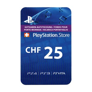 Playstation Network PSN CH 25 CHF
