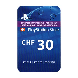 Playstation Network PSN CH 30 CHF