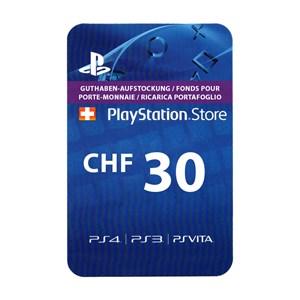 Playstation Network PSN CH 30 CHF
