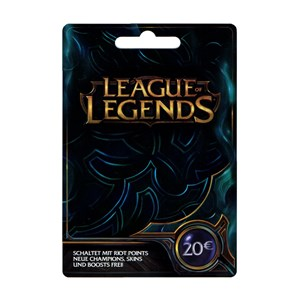 League of Legends LoL Card 20 Euro 3250 Riot Points