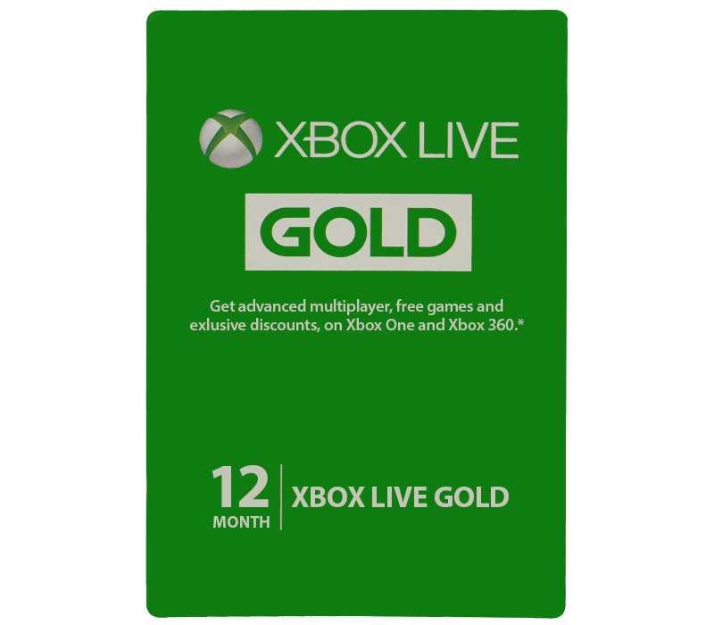 Buy Xbox Live Gold 12 Months Vgo Shopcom